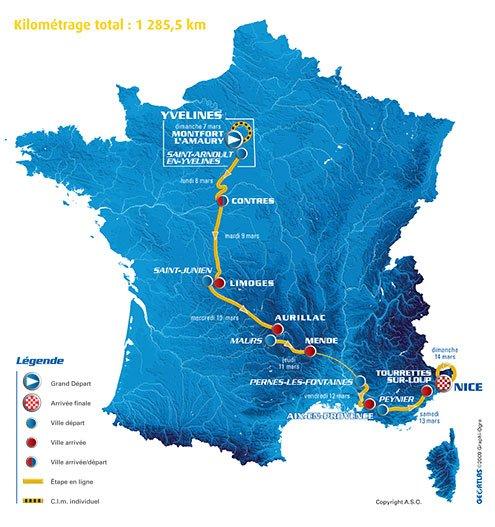 Париж-Ницца: маршрут объявлен