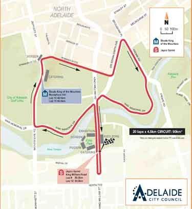 Сантос Тур Даун Андер - 2010. Этап 6 Карта