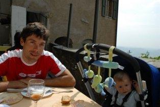 Фрейре с сыном в 2007