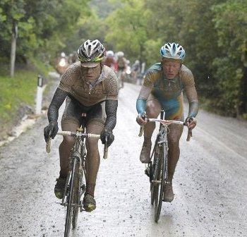 Эванс и Винокуров на 7-м этапе Джиро д'Италия-2010: 7-й эпический этап