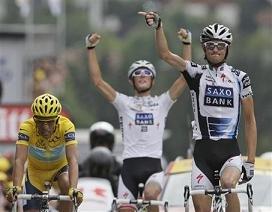 Контадор и братья Шлек на Тур де Франс 2009