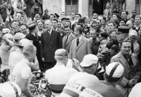 Jacques Goddet Jacques Goddet Charle de Gaulle Tour de France 1960