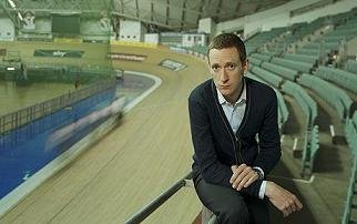 Bradley Wiggins at the Manchester Velodrome Photo: Philip Sinden