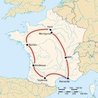 карта Тур де Франс 1903