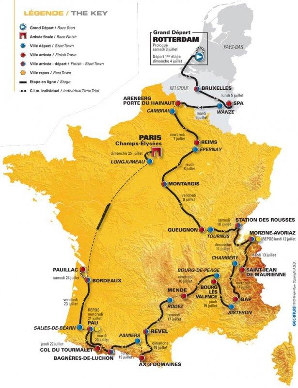 tour de france map 2010. a tour de france map 2010.