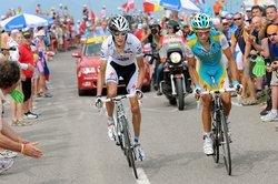 Шлек и Контадор на 9-м этапе