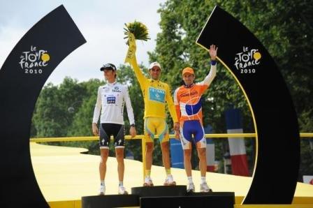 подиум Тур де Франс 2010подиум Тур де Франс 2010