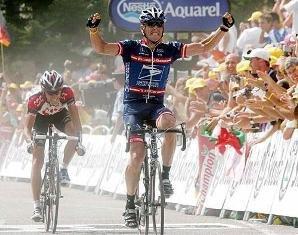 побела Армстронга на 15-м этапе Тур де Франс 2004