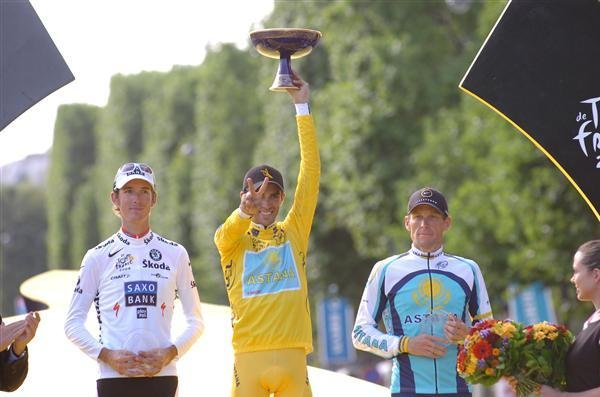 Another Tour trophy for Alberto Contador