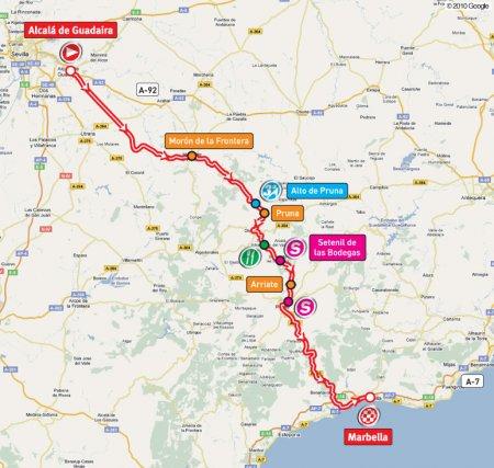 Вуэльта Испании-2010: Этап 2: Alcala de Guadaira - Marbella, 173.7 км