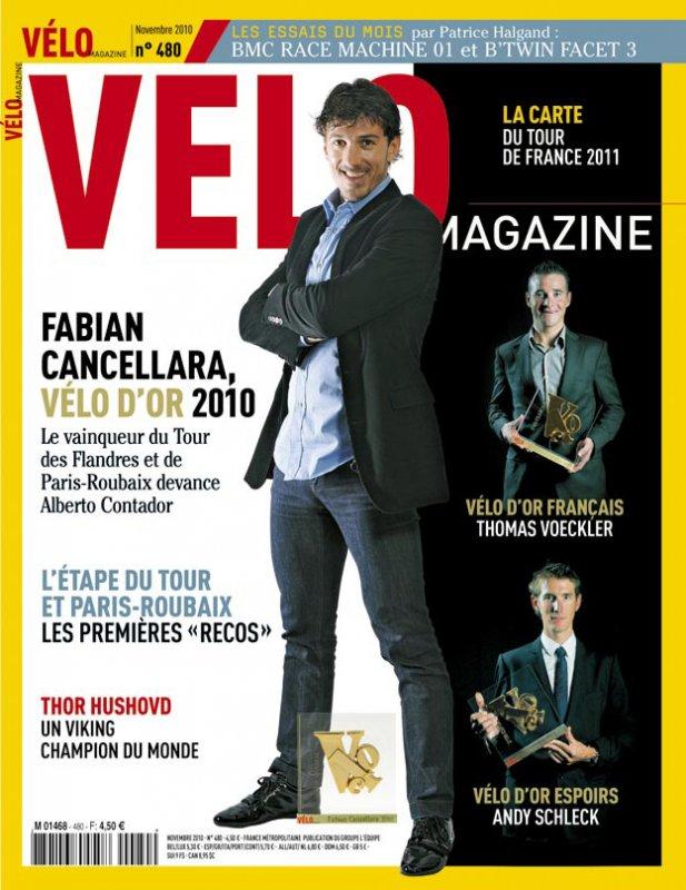 Фабиан Канчеллара - обладатель премии Velo d'Or 2010