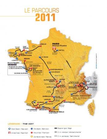 Тур де Франс–2011: Анализ маршрута велогонки