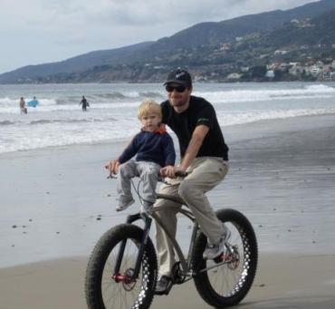 Дэвид Забриски с сыном. Photo (c) davezabriskie.com