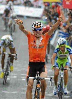 Победный финиш Игора Антона на 4-м этапе Вуэльты-2010 Photo (c) REUTERS