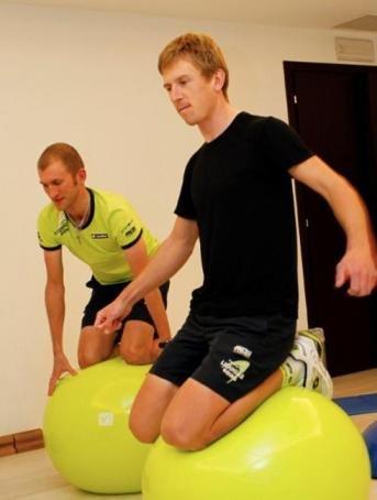 Жмыд и Боднар на тренировке