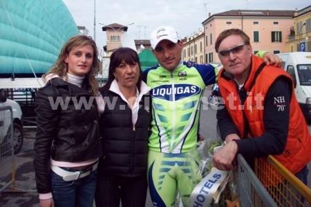 Франческо Кикки c подругой Мартиной и родителями