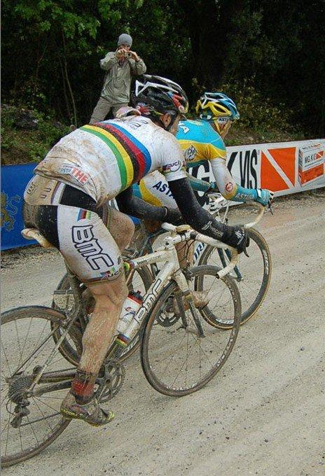 Кэдел Эванс и Александр Винокуров, 7-й этап Джиро-2010. Photo (c) PezCycling