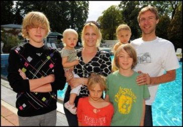 Фохт с семьей