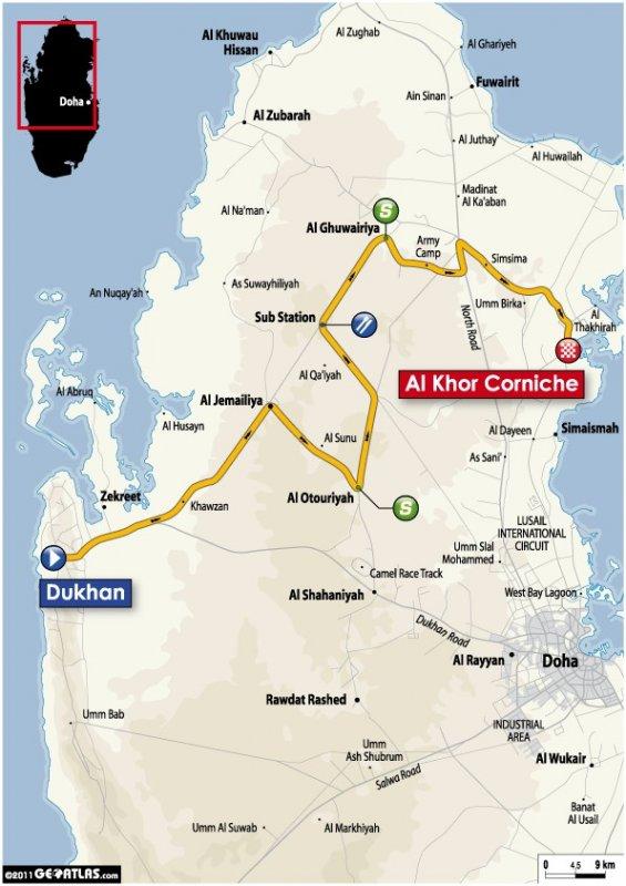 Tour of Qatar - 2011. Этап 1. Image (c) ASO