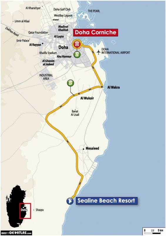 Tour of Qatar - 2011. Этап 5. Image (c) ASO