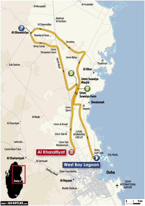 Tour of Qatar - 2011. Этап 4. Image (c) ASO