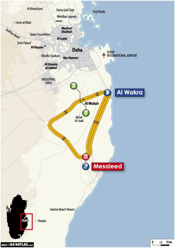 Tour of Qatar - 2011. Этап 3. Image (c) ASO