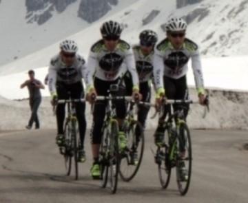 Team Geox - TMC на разведке горных этапов Джиро - 2011