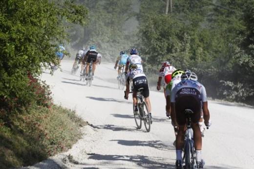 "Джиро - 2011. 5-й этап. ""Белые дороги"". Photo (c) Roberto Bettini"