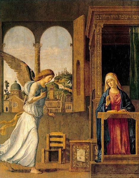Annunciation.Чима да Конельяно.
