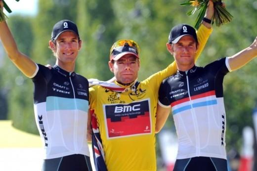 Итоговый подиум Тур де Франс - 2011