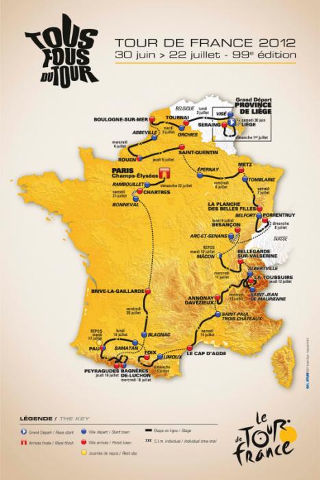 Тур де Франс-2012: из Льежа в Париж