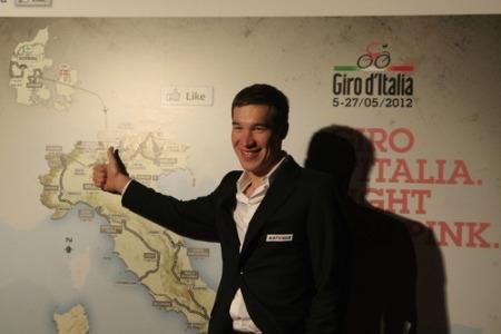 Денис Галимзянов на презентации Джиро-2012