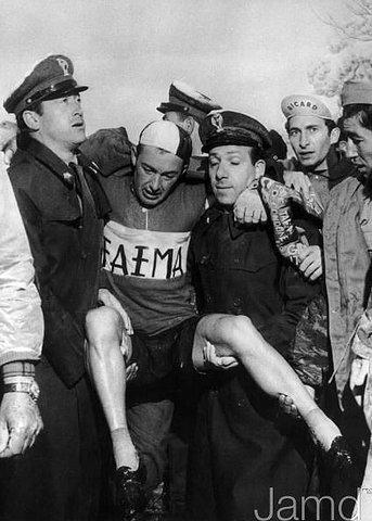 Шарли Голь после финиша на Монте Бондоне