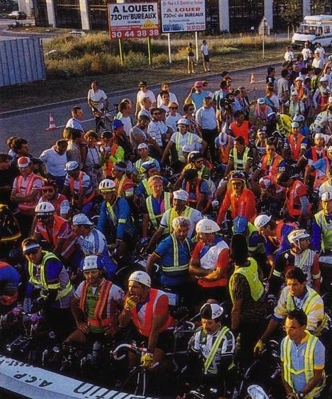 Старт гонки Париж-Брест-Париж в 1991 году. Photo (c) BC Randonneurs Cycling Club