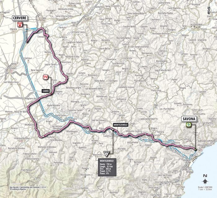 Джиро-2012: альтиметрия этапов