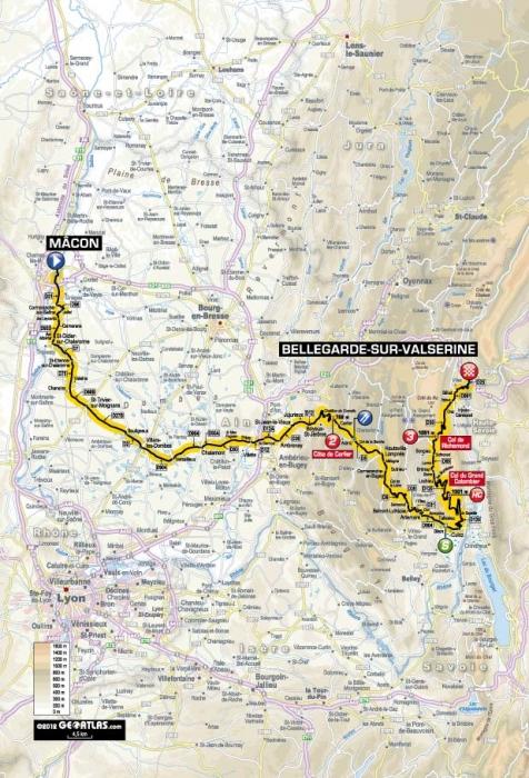 Тур де Франс - 2012: Альтиметрия этапов. Часть 1