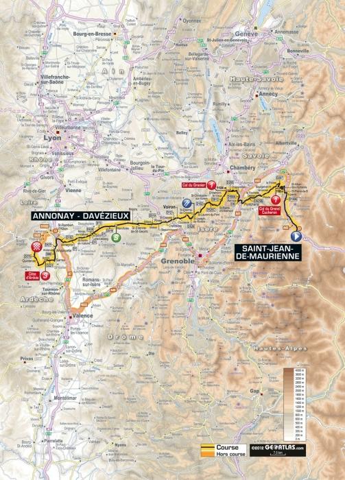 Тур де Франс-2012: Альтиметрия этапов. Часть 2