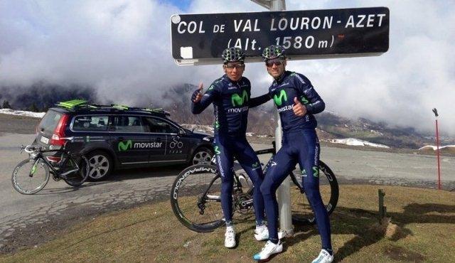Алехандро Вальверде и Наиро Кинтана, photo Movistar