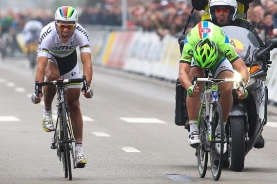 Филипп Жильбер и Петер Саган на Brabantse Pijl-2013