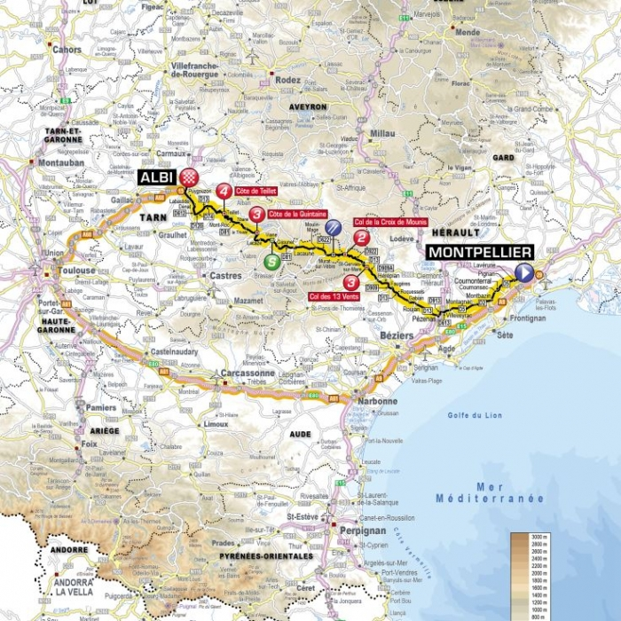 Тур де Франс-2013: Альтиметрия