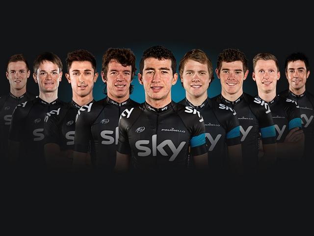 Команда Sky на Вуэльту-2013, photo (c) Sky