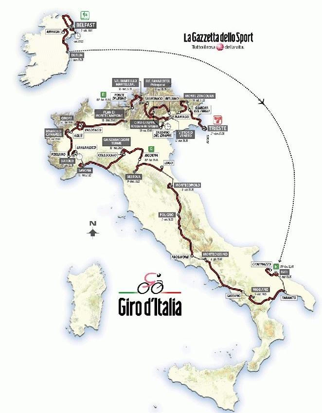 Сбалансированный маршрут Джиро д'Италия-2014