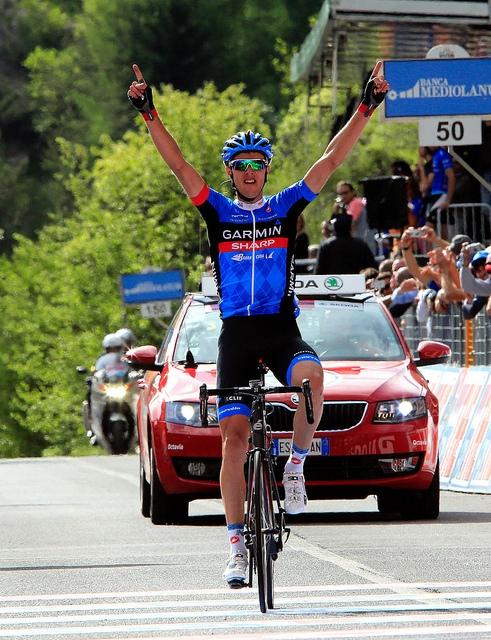 Рамунас Навардауска, победа на этапе Джиро-2013