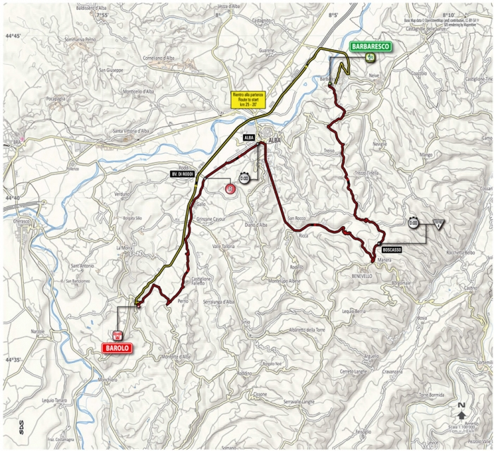 Новый маршрут разделки 12 этапа Джиро 2014