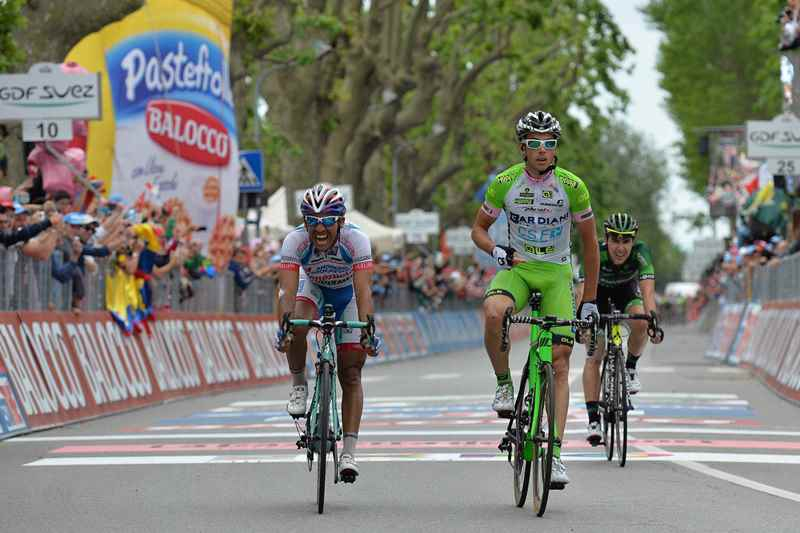 Участники Джиро-2014 о 13-м этапе