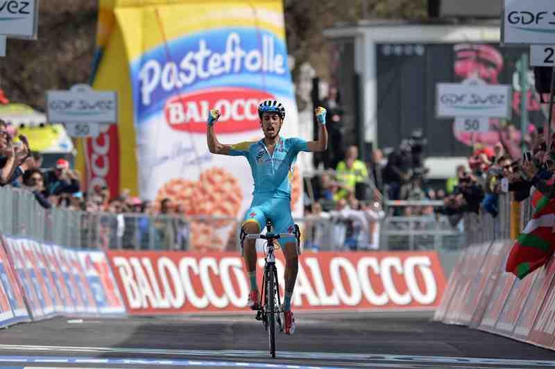 Итальянец Ару из команды Astana побеждает на 15 этапе Джиро д'Италия-2014