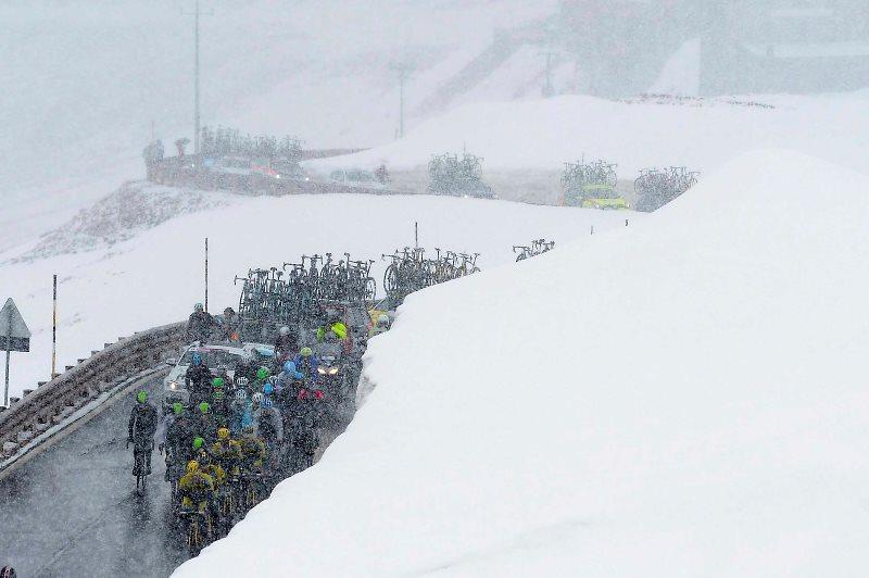 Участники Джиро-2014 о 16-м этапе