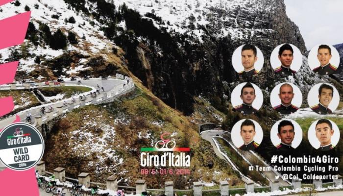 Команда Colombia: приоритет – ярко выступить на Джиро д'Италия-2014