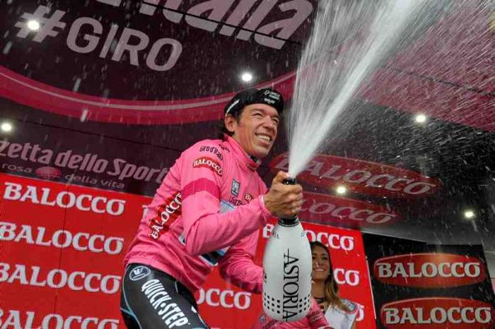 Ригоберто Уран – первый колумбиец, надевший розовую майку лидера Джиро