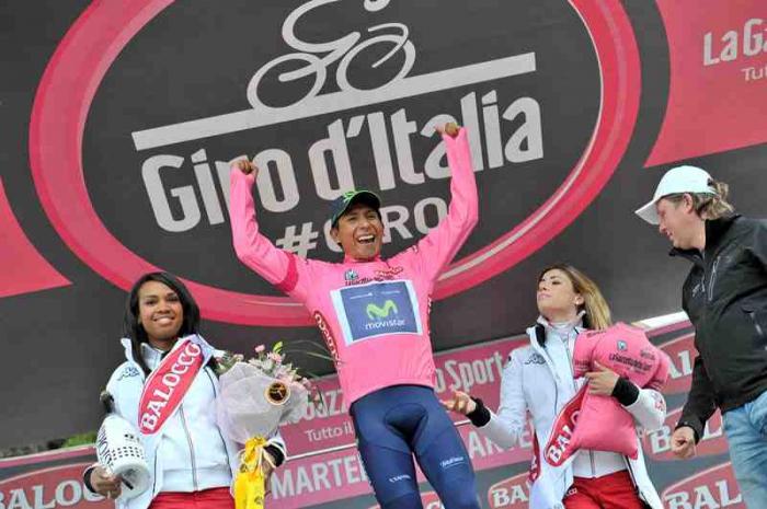 Наиро Кинтана - новый лидер общего зачета Джиро д'Италия-2014
